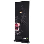 Roll Up Banner Premium schwarz 85x215 cm
