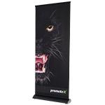 Roll Up Banner Premium schwarz 85x215 cm