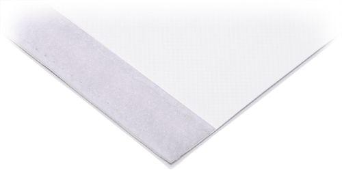 Klettband / Flauschband an ein PVC Blockout Banner genäht