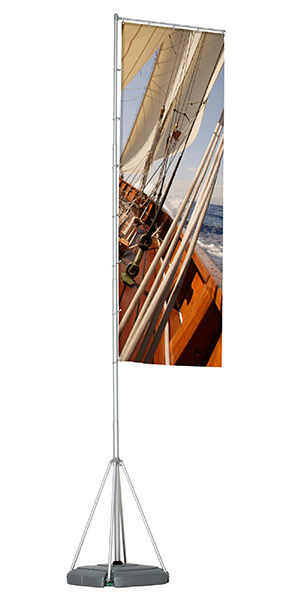 flagpole 540 cm mobiler fahnenmast mit wassertank. Black Bedroom Furniture Sets. Home Design Ideas