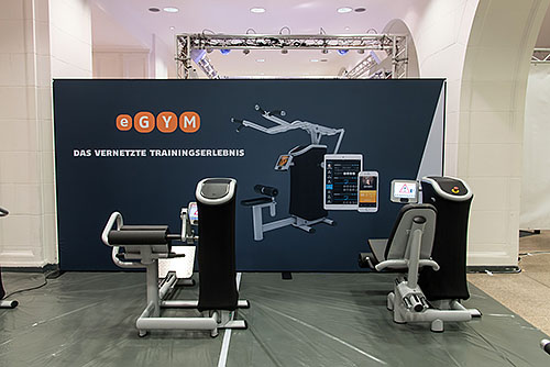 Mobile Messewand Berlin - eGym - 5 Meter