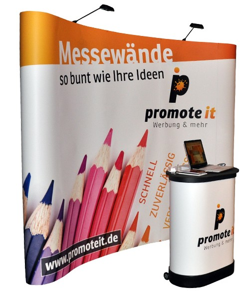 Foto von Pop Up Display / Faltdisplay gebogen